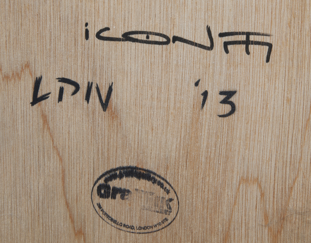 Trust iCON, 'War on Terror', 2013, Mixed Media, Aerosol on wood, Julien's Auctions