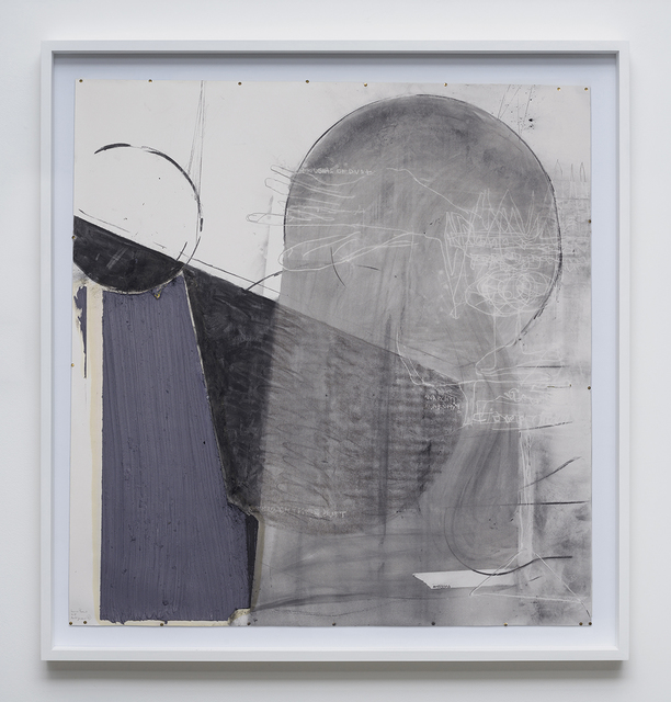 Nuno Ramos, 'Antígona #4', 2018, Drawing, Collage or other Work on Paper, Charcoal, graphite, oil, pigment, vaseline and stamp on paper., Kogan Amaro