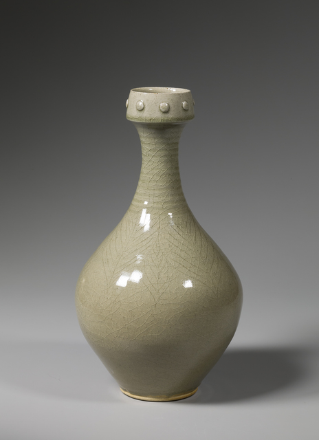 , 'Vase, celadon glaze with medallions on rim and leaf slip trailing,' 2016, Pucker Gallery