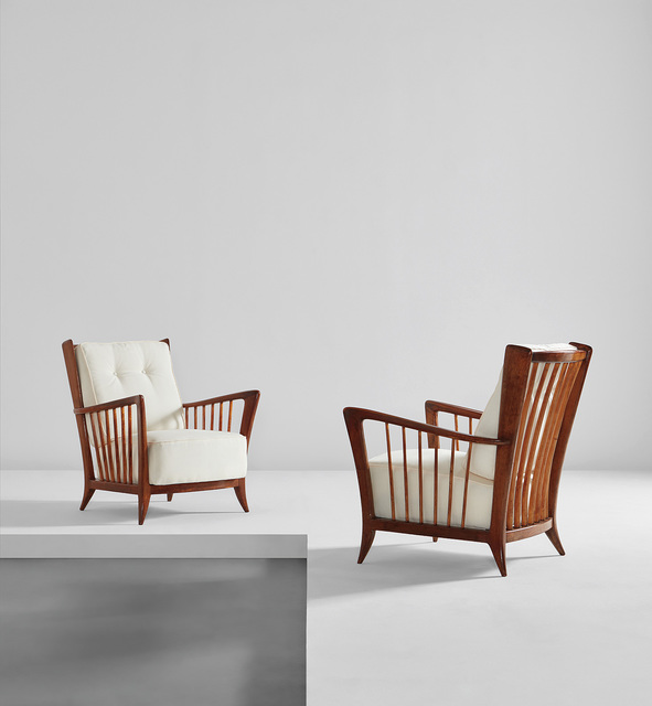 Paolo Buffa, 'Pair of armchairs', early 1950s, Phillips