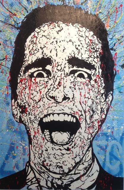 Alec Monopoly, 'Patrick Blue', 2014, Painting, Acrylic and spray-paint on canvas, Avant Gallery