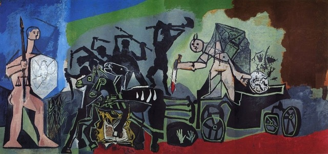 Pablo Picasso, 'The Enemy Comes for Blood (La Paix Rouge)', 1954, Print, Offset lithograph, artrepublic