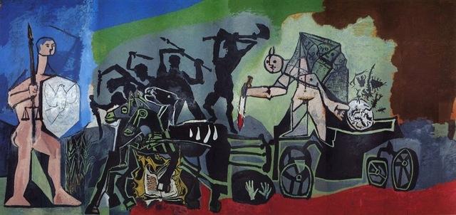 Pablo Picasso, 'The Enemy Comes for Blood (La Paix Rouge)', 1954, Artsnap