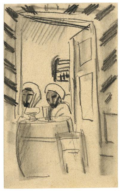 , 'Café-Szene in Tunesien,' 1914, Ludorff