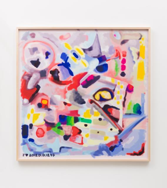 , 'J♥2018.01.01.18.47,' 2018, Johannes Vogt Gallery