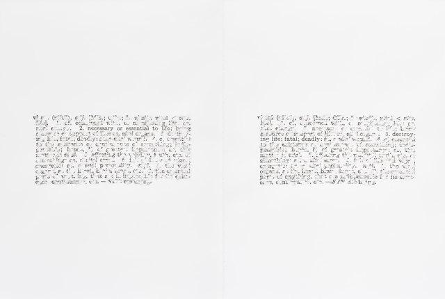 Bethany Collins, 'Vital, 1968', 2015, Goodman Gallery