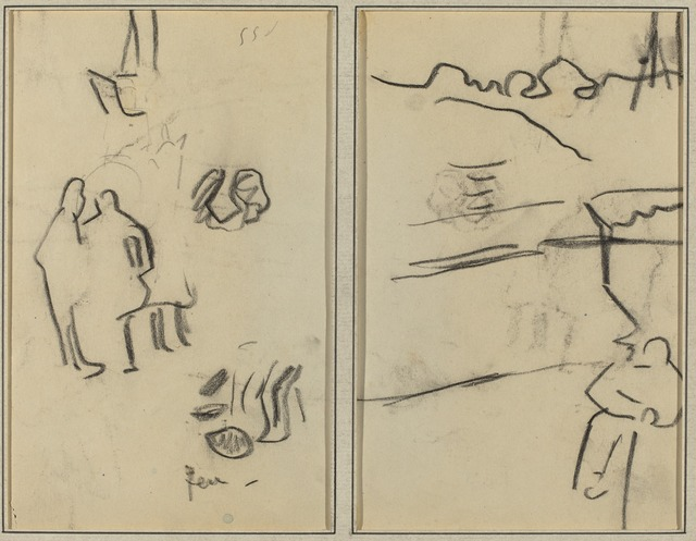 Paul Gauguin, 'Group of Human Forms; A Man Seated [recto]', 1884-1888, Drawing, Collage or other Work on Paper, Crayon on wove paper, National Gallery of Art, Washington, D.C.