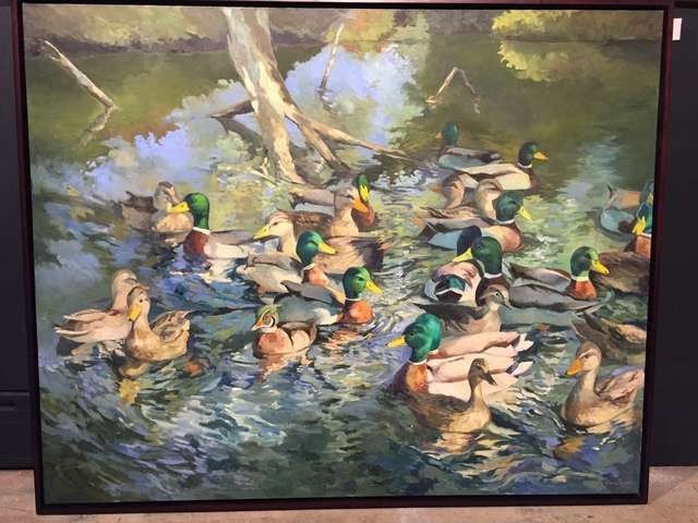 Edwina Lucas, 'Pond View Ducks', 2016, Painting, Oil on Canvas, Grenning Gallery