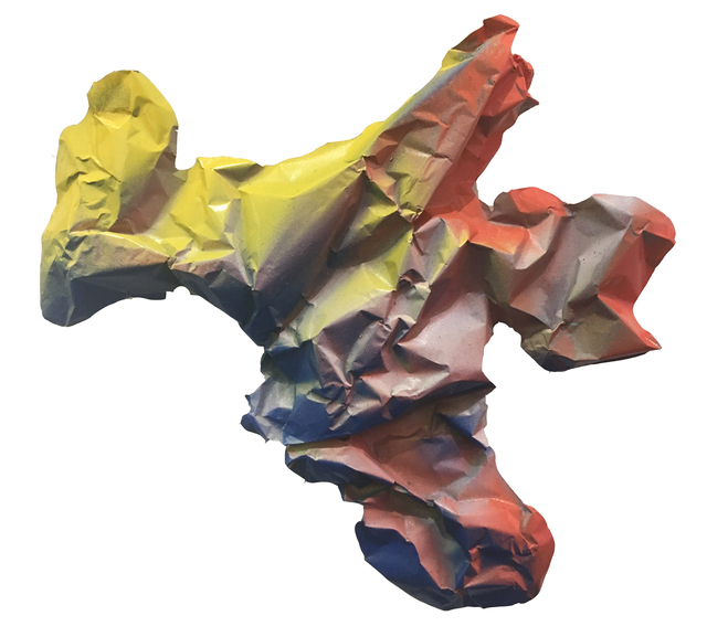 , 'Fragment (yellow and orange with blue),' 2019, Deep Space Gallery