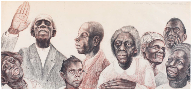 , 'Study for The History of Negro Education in Morris County, Texas,' c.1955, Michael Rosenfeld Gallery