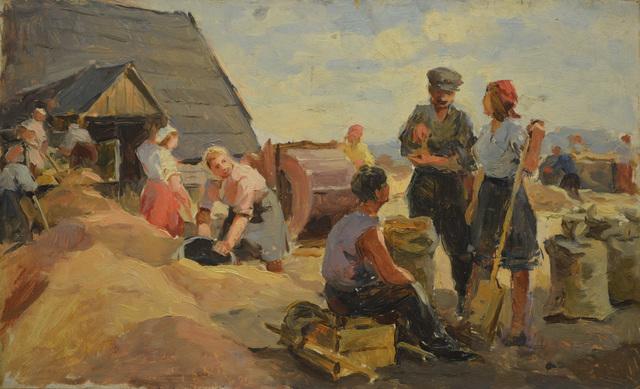 Mikhail Iiovich Batov, 'Women at harvest', 1946, Surikov Foundation