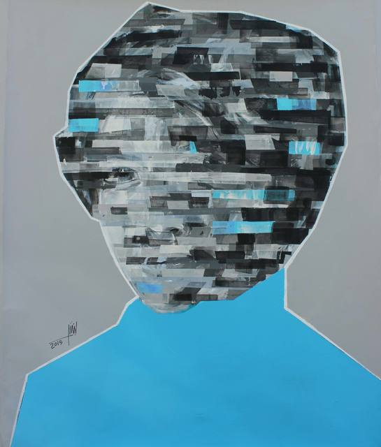 , 'Wujuh min al- thakira (Blue),' 2015, Wadi Finan for Arts