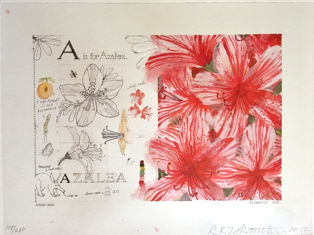 ", ' Part of Deluxe Edition Book: ""A Garden of Ordinary Miracles"",  A is for Azalea,' 2012, Dog & Horse Fine Art"