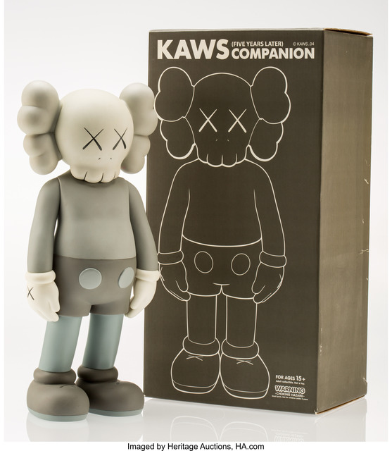 KAWS, 'Companion-Five Years Later (Grey)', 2004, Heritage Auctions