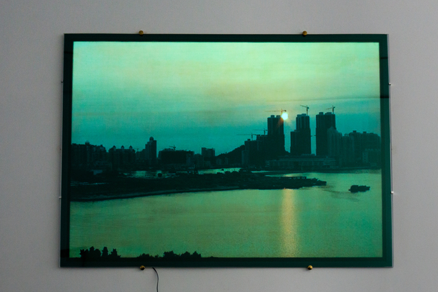 , 'Shenzhen Sky, Green metallic,' 2014, Carroll / Fletcher