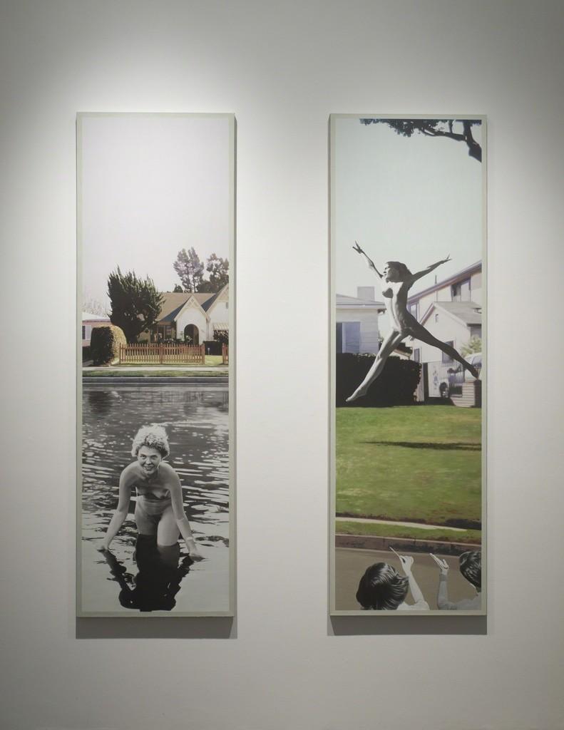 "Installation view of Martin Mull, ""Split Infinitives,"" as Samuel Freeman, November, 2010."