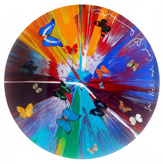 Damien Hirst, 'Beautiful Spin Painting with 15 Butterflies', 2013, The Drang Gallery