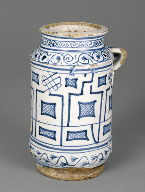 'Jar with a Kufic Pattern',  mid-15th century, J. Paul Getty Museum