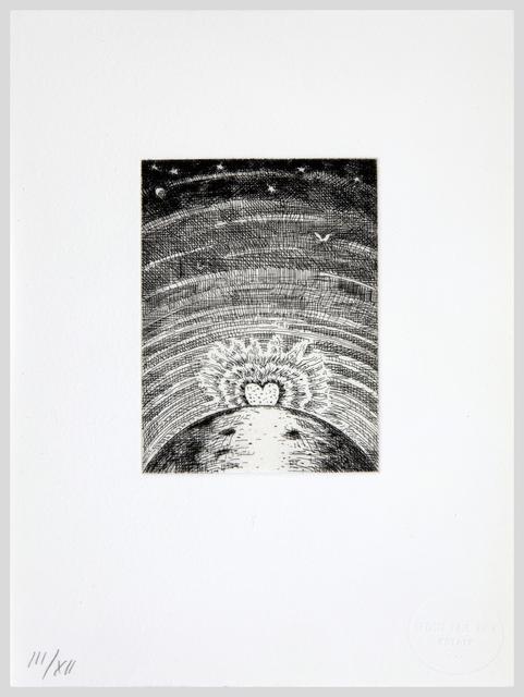 Paul Thek, 'Untitled (Rising Heart 3rd Version)', Print, Etching on handmade Twinrocker paper, Alexander and Bonin