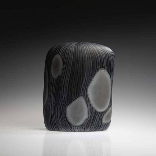 , 'Close Impression, Black with Grey, (square),' 2018, Tansey Contemporary