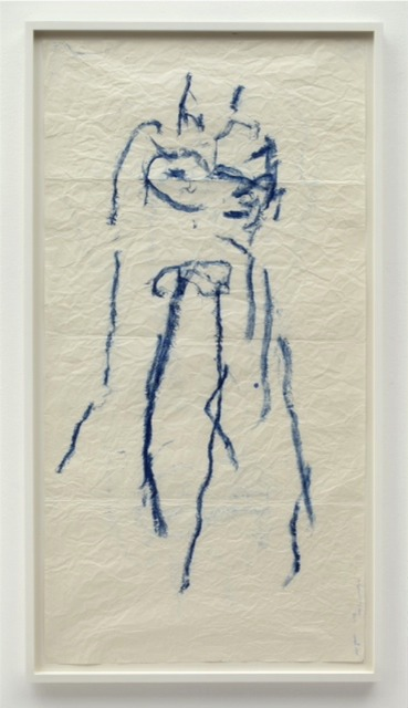 Joan Jonas, 'Body Drawing', 2013, Drawing, Collage or other Work on Paper, Oilstick on paper, MARUANI MERCIER GALLERY
