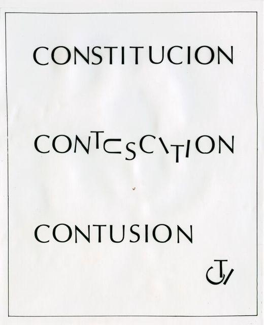 , 'Constitución,' 1973, Galería del Paseo