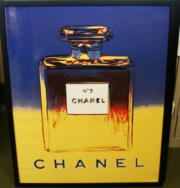 Andy Warhol, 'Chanel No. 5 (Blue and Yellow) Advertising Poster', 1997, Washington Color