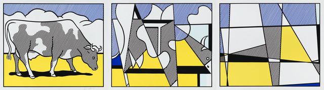 Roy Lichtenstein, 'Cow Going Abstract (Triptych)', 1982, Christopher-Clark Fine Art