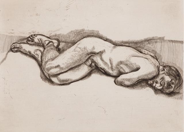 , 'Naked Man on a Bed,' 1987, Marlborough London