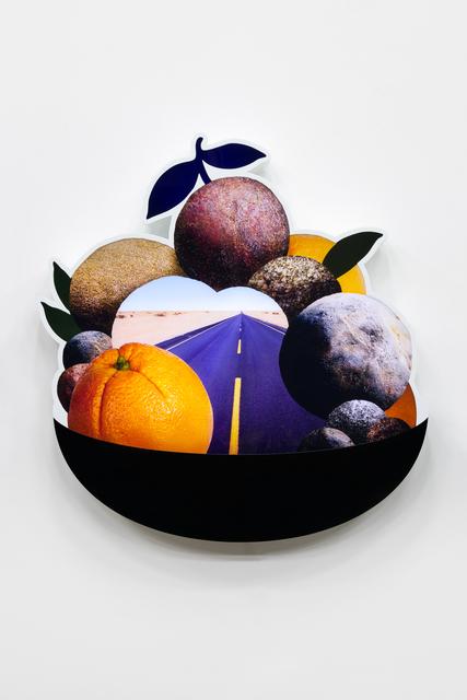 , 'Fruit bowl (Orange and Highway),' 2018, 303 Gallery