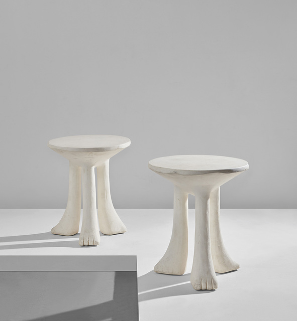 "John Dickinson, 'Pair of ""Africa"" tables', circa 1976, Phillips"