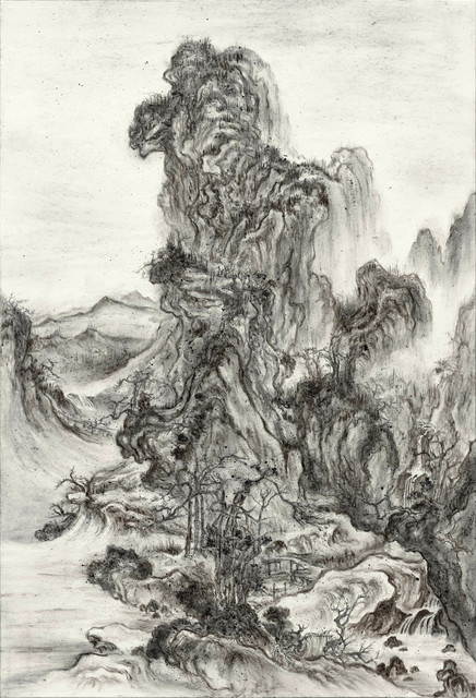 , 'Fiery Ink, Travelers in Autumn Mountains by Guo Xi,' 2017, Tina Keng Gallery