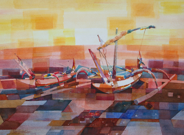 , 'Balinese Fishing Boats,' 2013, Affinity ART