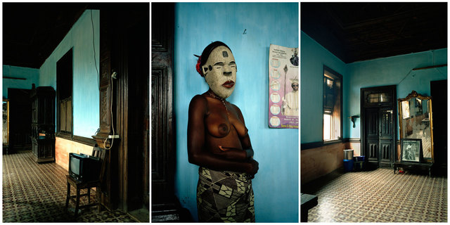 , 'Untitled triptych (Demoiselles de Porto-Novo series),' 2012, Jack Bell Gallery