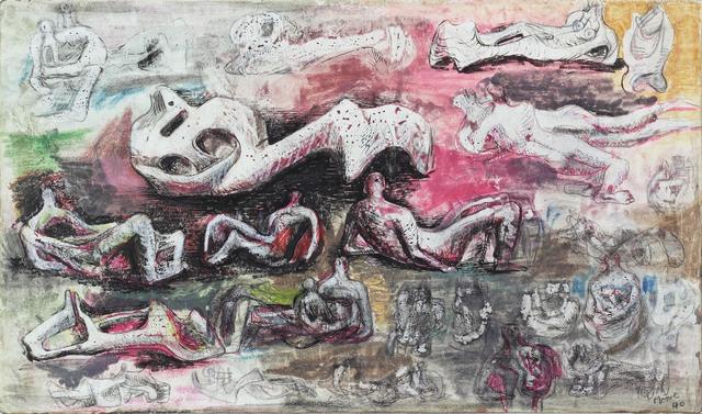 , 'Reclining Figures,' 1940, Bernard Jacobson Gallery