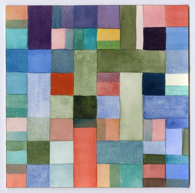 , 'Grid Color Study 5,' 2011, InLiquid