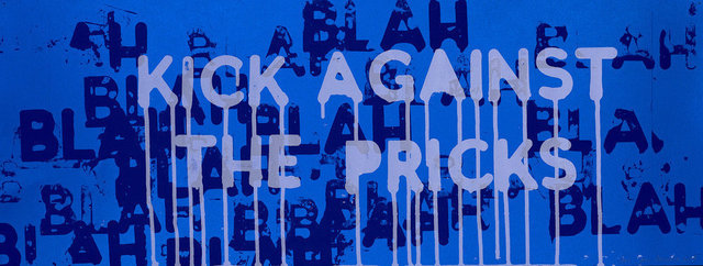 Mel Bochner, 'Kick Against the Pricks', 2018, Print, Two colour silkscreen on coated paper, Lougher Contemporary Gallery Auction