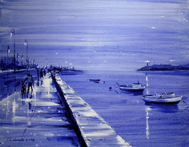 Luis Enrique Camejo, 'Malecon Azul', 2014, Robert Berman Gallery
