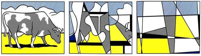 """Roy Lichtenstein, 'Serigraphic Triptych """"Cows"""" by Roy Lichtenstein', 1982, Galerie Philia"""