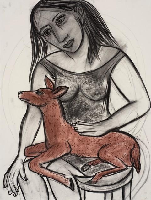 Eileen Cooper, 'Woman with deer', 2016, Castlegate House Gallery