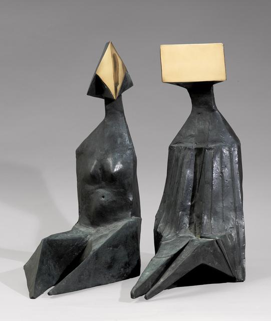 , 'Pair of Sitting Figures VII,' 1973, Osborne Samuel