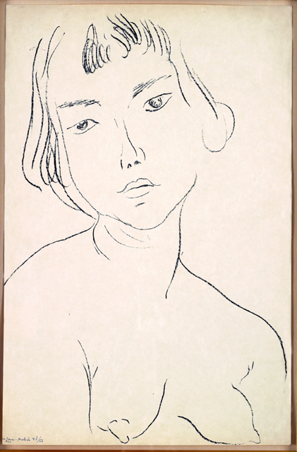 , 'Visage Légèrement Penché vers la Gauche,' 1913, Galerie Maximillian