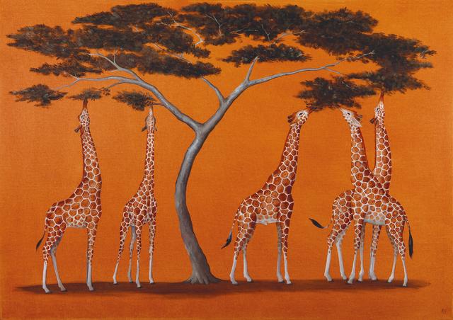 , 'A Tower of Giraffes,' 2018, Jonathan Cooper