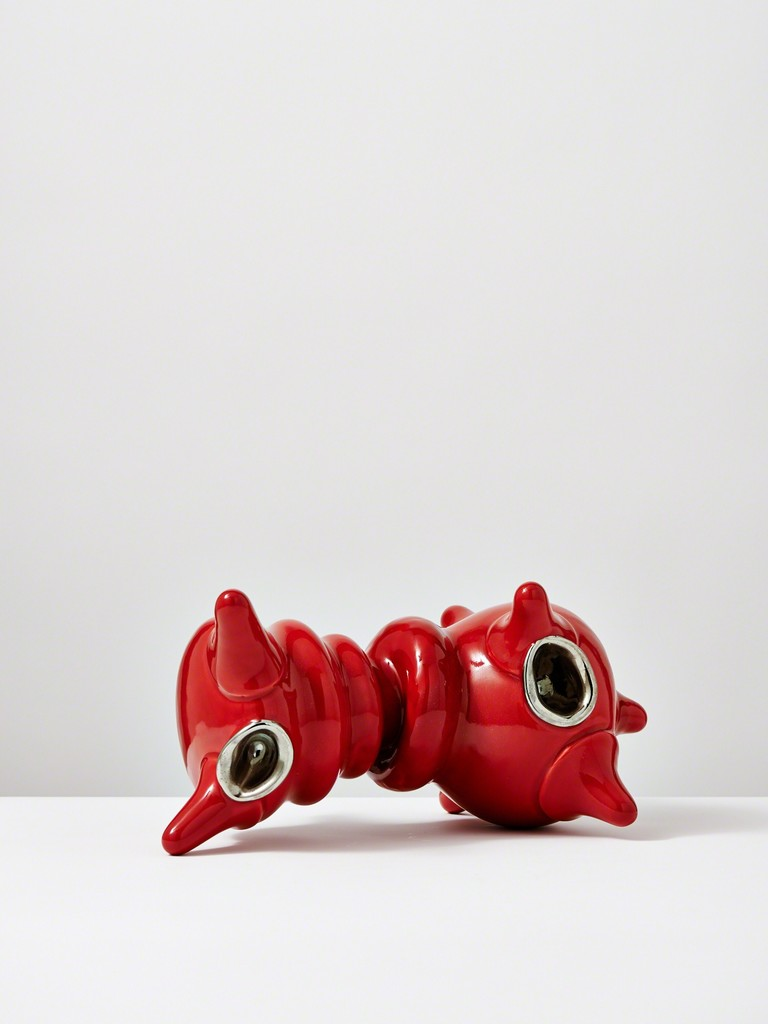 Michael Geertsen, 'Red Crawling Object with Platin,' 2013, Jason Jacques Inc.
