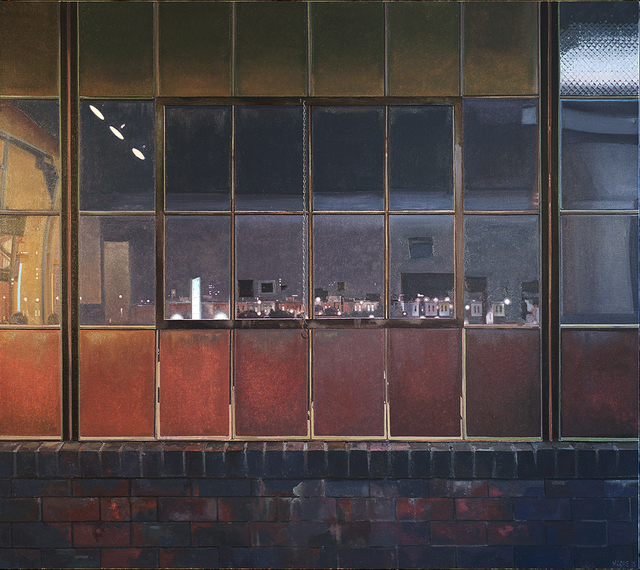 John Moore (b.1941), 'Night Studio in Frankford', 2015, Painting, Oil on canvas, Locks Gallery