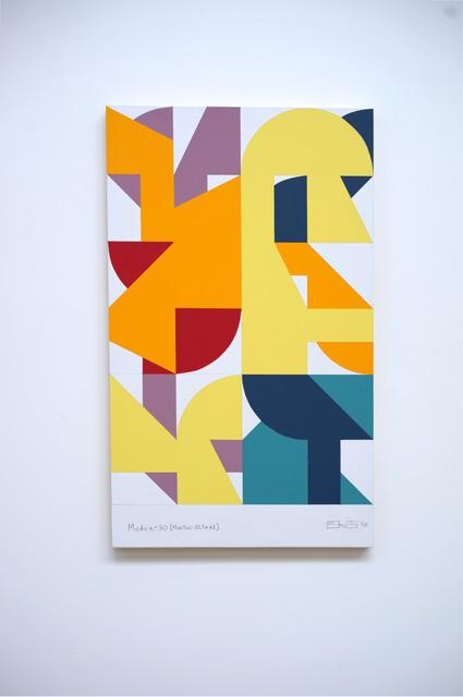 Eltono, 'Modo n°30 (Fluctuo 62,5x42)', 2019, Painting, Acrylic on wood, Galerie Slika