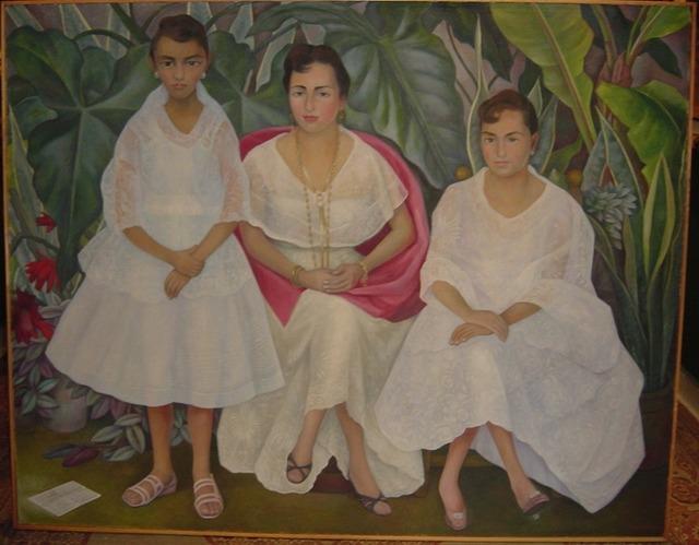 """, '""""Familia Veracruzana con trajes papantlecas"""" ,' 1957, GALERÍAS A. CRISTOBAL"""
