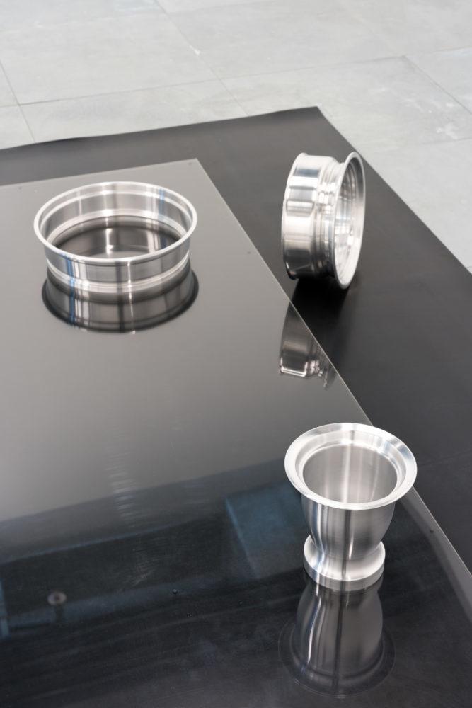 Phillip Lai 'Certain Pressures' - 2014 - Aluminum, Rubber, Acrylic - 30 x 289 x 139.5 cm