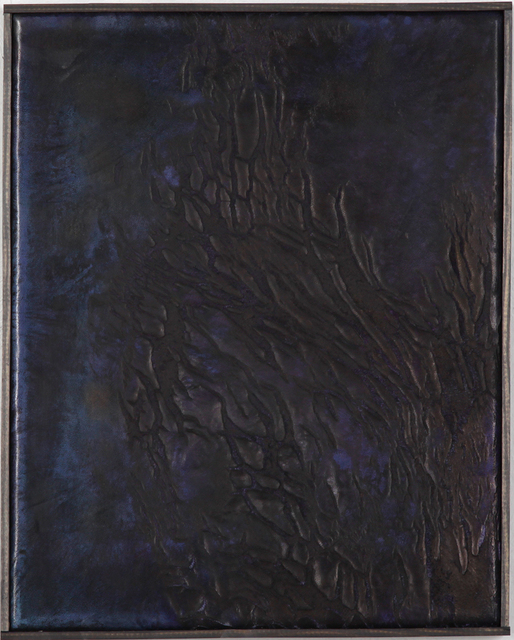 , 'Ohne Titel (Kleine Malerei bläulich mit Rissen),' 2014-2017, Circle Culture