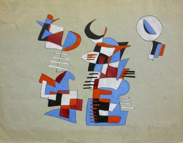 Victor Brauner, 'Abstract composition', 1953, HUNDERTMARKartFAIR